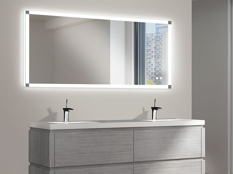 The Tranquility Illuminated Slique Mirror Is Essence Of Contemporary Stylish Simplicity Featuring A Single Band Frosted Light For Front Lighting